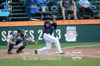 Image #0380   May 28, 2013; Harris Field Complex,Lewiston, ID; Lee (TN) Flames vs. Missouri Baptist Spartans.  Game 14, 57th Annual Avista NAIA Baseball World Series  Mandatory Credit: Dale Grosbach-Dale G Sports