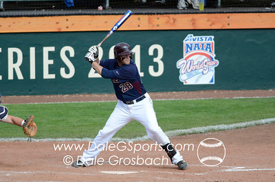 Image #0411   May 28, 2013; Harris Field Complex,Lewiston, ID; Lee (TN) Flames vs. Missouri Baptist Spartans.  Game 14, 57th Annual Avista NAIA Baseball World Series  Mandatory Credit: Dale Grosbach-Dale G Sports