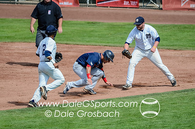 Image #0409   May 27, 2013; Harris Field Complex,Lewiston, ID; Rogers State (OK) DiamondCats vs. Missouri Baptist Spartans.  Game 9, 57th Annual Avista NAIA Baseball World Series  Mandatory Credit: Dale Grosbach-Dale G Sports