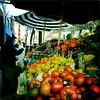 Farmers Market With Umbrellas