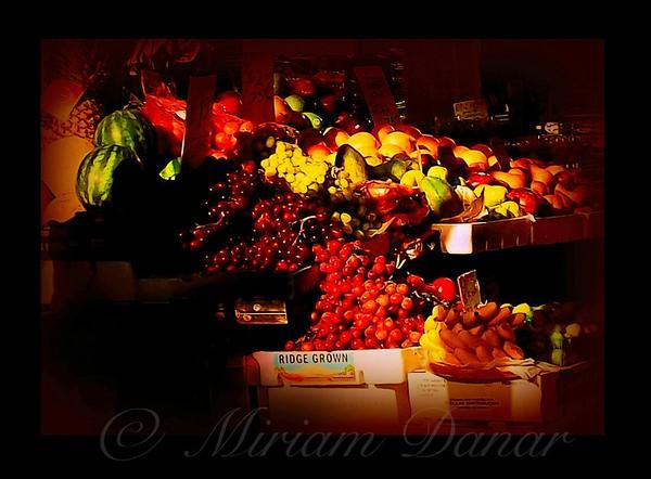 Sun on Fruit - Markets and Street Vendors of New York City
