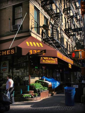 We Sell Flowers - New York City Street Scene - Corner