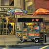 Little Wagon on the Corner - Sidewalks of New York