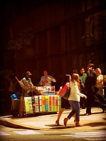 The Bookseller - New York City Street Scene - Street Vendor