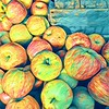 Cezanne on the Hudson - Apples at the Farmers Market