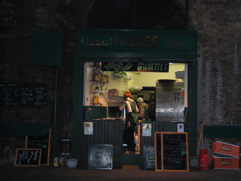 The roast shop. There are so many things about this that I love, but mostly that it's under a railway arch.