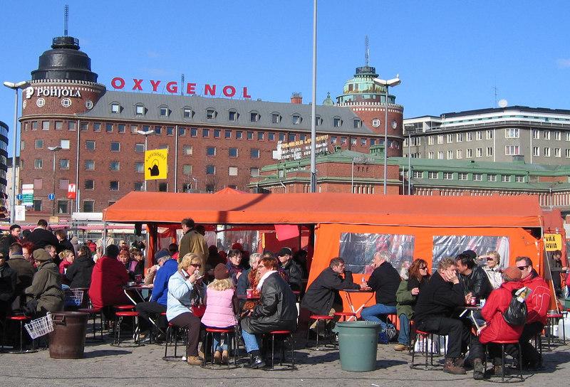 Kahvi ja pulla (coffee and bun) at Hakaniemitori
