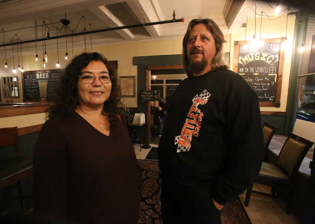. Markoh\'s on Main restaurant in Ayer. Regular customers Gloria and Todd Raymond of Ayer eat at Markoh\'s once or twice a week, sometimes ordering items from the Lucia\'s menu to eat at Markoh\'s. They also like the Tuesday mic night. (SUN/Julia Malakie)