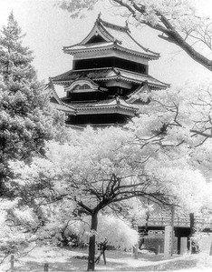 Matsumoto Castle, Japan, 1995, HIE Film, #infrared #infraredfilm