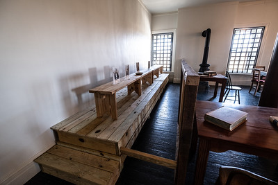 Room where the conspirators in the President Lincoln assasination were tried.  Where the accused sat with a hood on uable to speak and defend themselves