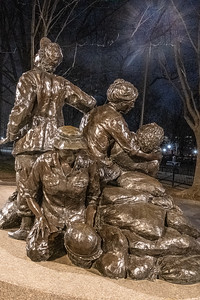 The Nurses Statue at the Vietnam Wall.