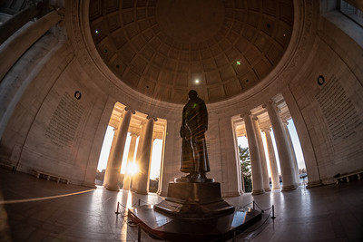Sunrise in the Jefferson Memorial