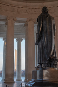 President Jefferson viewing the Washington Monument
