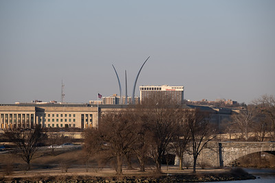 The Pentagon and the Air Force Memorial