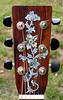 Abalone inlay on the headstock