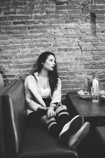 Inspiration shoot for 'The Diner' promo project, shot in Burger & Co., Toulouse, 2016