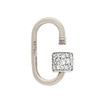Marla Aaron Stoned Lock for Jewels by Grace Exclusive, White Gold 1