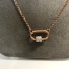 Marla Aaron Stoned Lock for Jewels by Grace Exclusive, Rose Gold 8