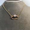 Marla Aaron Stoned Lock for Jewels by Grace Exclusive, Rose Gold 32