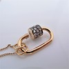 Marla Aaron Stoned Lock for Jewels by Grace Exclusive, Rose Gold 16