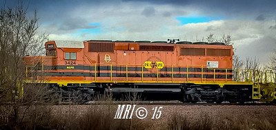 #3424 - EMD SD40-2 (former #RCPE #6422) - Rapid City, Pierre and Eastern