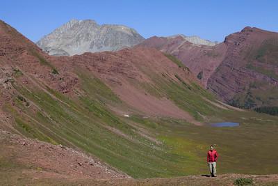 Chris above Fravert Basin
