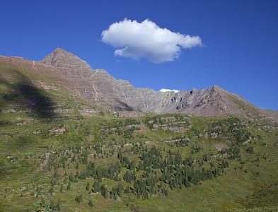 Maroon Peak from Fravert Basin