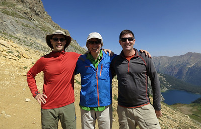 Andrew, Peter & Chris atop Trail Rider Pass