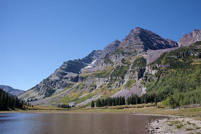 Maroon Peak above Crater Lake