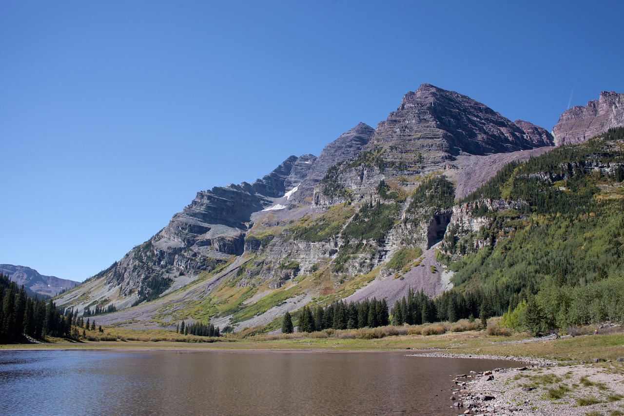 Maroon Peak above Crater Lake