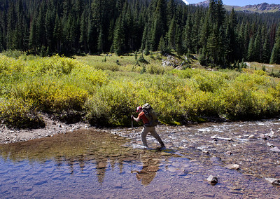 Chris crossing the Crystal River