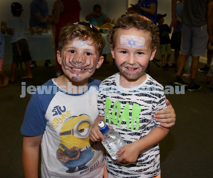 Pre Chanukah party at Maroubra Synagogue. Dov Nagel (left), Dovid Friedman. Pic Noel Kessel