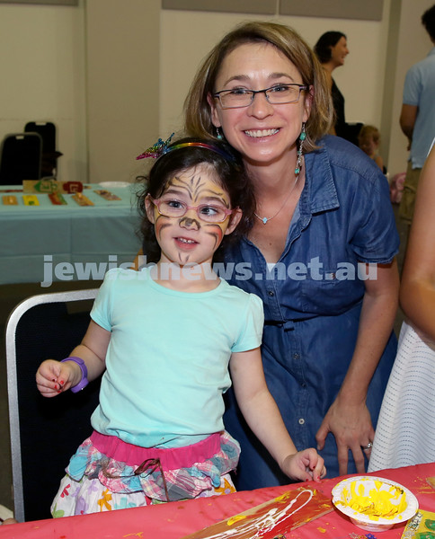 Pre Chanukah party at Maroubra Synagogue. Samantha and Mel Rubinstein. Pic Noel Kessel.
