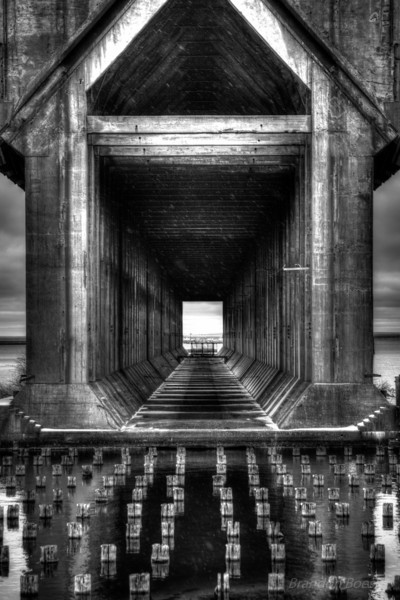 Black and White Ore Dock