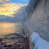 Winter at the Upper Harbor Breakwall