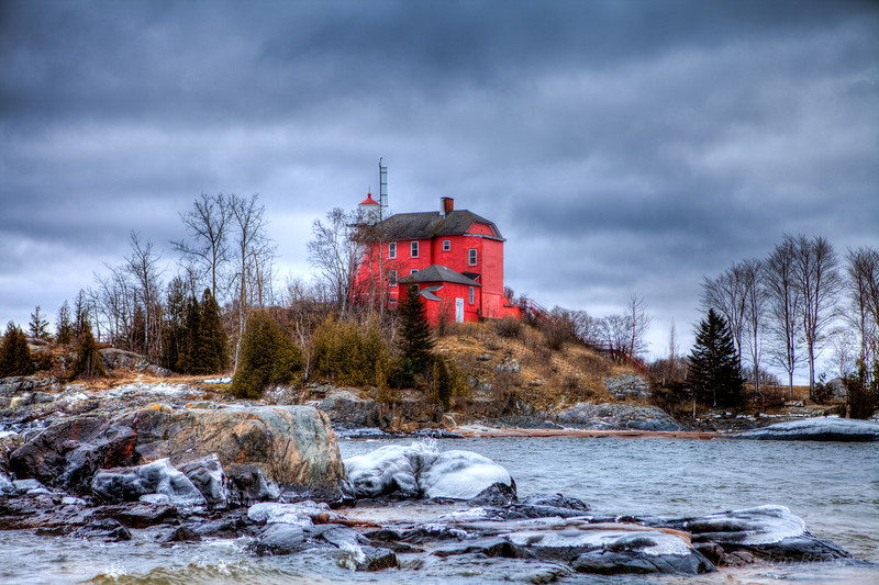 Winter time at the Marquette Lighthouse