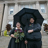Livanny De Luna and Anthony De Luna tied the knot at Leominnster City Hall on Thursday, Oct. 31, 2019, Halloween. SENTINEL & ENTERPRISE/JOHN LOVE