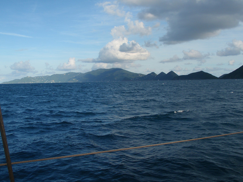 We sailed by the British Virgin Islands - Jost Van Dyke, Tortola, Little Thatch, and Great Thatch.