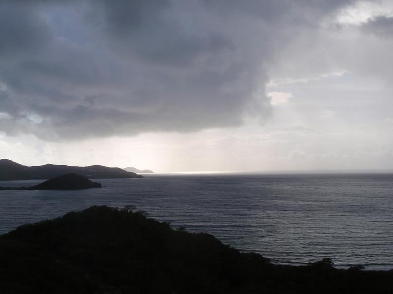 a passing rainstorm