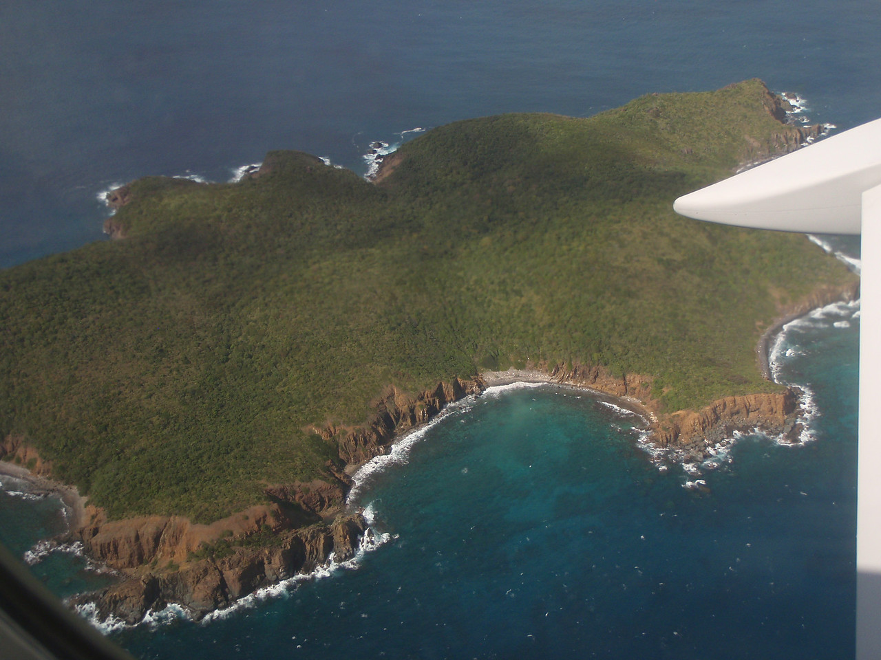 Great views of little islands just before landing.