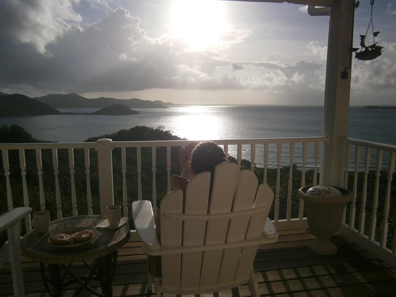 Sarah enjoys the views