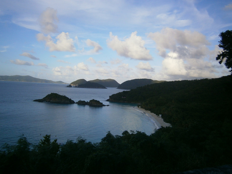 A view of Trunk Bay.