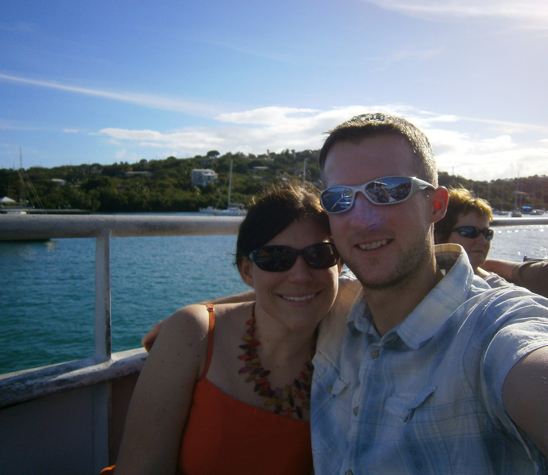 Taking the ferry over to St. John.
