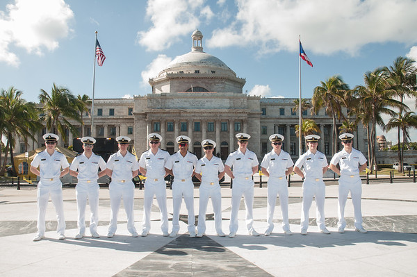 Navy  Cadets Visit to  Capitol of Puerto Rico