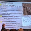 Dr. Carol Stoker, NASA Ames Research Center, presents the 3 most important findings the Phoenix Lander made concerning habitable conditions on Mars for Earth organisms: liquid water on the surface, MgClO4 as chemical energy source, acceptable climate conditions in long cycles.