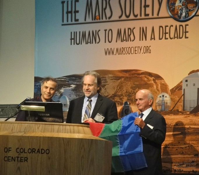 Dr. Robert Zubrin , President Mars Society<br>Taber MacCallum, CEO & CTO Paragon Space Dev. Corp.<br>Denis Tito, First Tourist in Space (MIR)