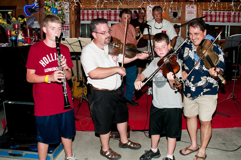 Marshall musicians from three different generations play an old Polish tune
