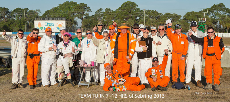 "Terrific Team Turn Seven 2013<br /> 2013 12 Hours of Sebring<br /> Also winners of the ""TYPO"" contest"