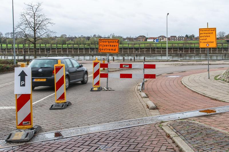 Havenstraat afgesloten