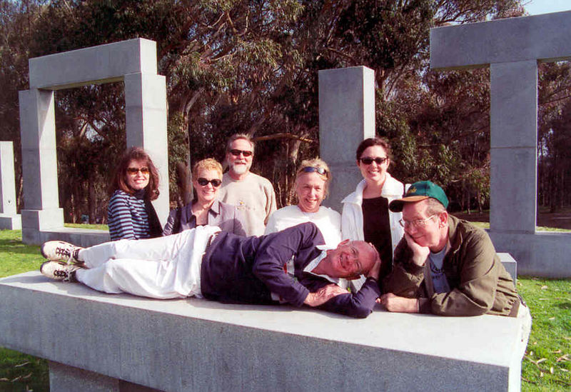 Janice, Becky, John, Barbara, Becky, Hal & Dosin Ken lying down on the job.